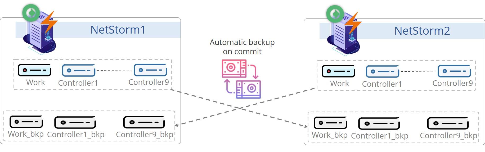 NetStorm Backup Process